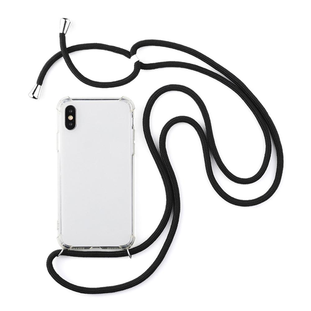 Fashion Transparent TPU Necklace Strap Rope Phone Case Cover For iPhone X XS XR XS Max 6 7 8 Plus Soft TPU Phone CaseFashion Transparent TPU Necklace Strap Rope Phone Case Cover For iPhone X XS XR XS Max 6 7 8 Plus Soft TPU Phone Case