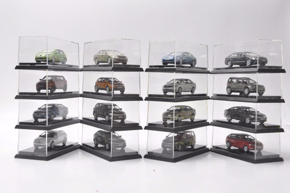 Set Of Sixteen 1:64 Diecast Model For Volkswagen VW & Skoda 30th Anniversary Gifts Touran Tiguan Polo Passat Santana Lamado Etc
