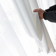 Thickened Chinese Pleated Window Screen Light can penetrate the curtain, but human shadow cant curtain.450 g/m