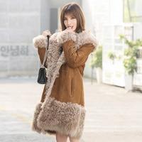 2018 winter new women's fur coat Elegant Ticklardo Wool Fur coat real fur coats lamb fur Overcoat MW1704