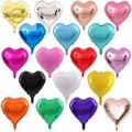 5 шт. 5/10/18 дюймовые воздушные шары в форме сердца с фольгой, декоративные гелиевые шарики для вечеринки на день рождения, свадебный фестиваль...