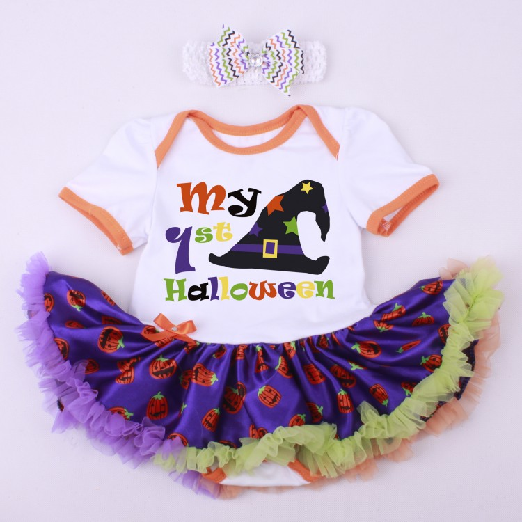 416a3f57f1ed6 Baby Girl Rompers Tutu Romper Dress headband 2pcs Sets Halloween Party  Birthday Christmas Elsa Supergirl Batgirl Costume 0-1Y