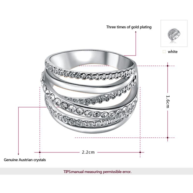 BOAKO New Wide Gold Color Multilayer Hollow Rings for Women Trendy Stack Ring Jewelry Female Finger Ring Bijoux Wholesale G4