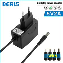 Carregador de Caixa Berls Venda Quente 5 V 2A 2000ma AC DC Power Adapter de TV UE Ficha 5.5*2.1mm