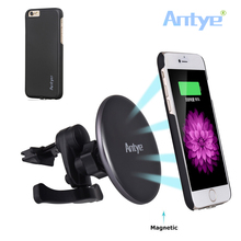 360 Rotating New Magnetic Qi Wireless Charging Car Charger Air Vent Stand Holder for iPhone6/6S/6Plus/6S Plus and Other Qi Phone