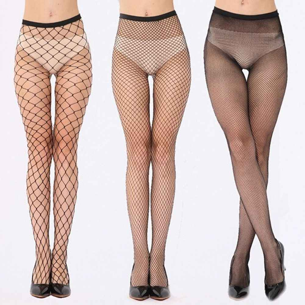 Sexy Tights Fashion Women Thin Mesh Net Fishnet Body Stockings Fishnet Pattern Pantyhose Party Tights Elastic Silk Leg Stockings