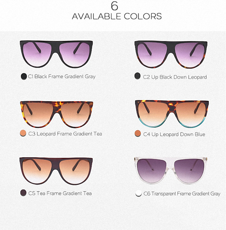 38f5bbbcfa1d Aliexpress.com : Buy Glexal 10 Colors Flat Top Retro Women Large Gradient  Frame Sunglasses Classic Clear Lens Sunglasses from Reliable lens sunglasses  ...