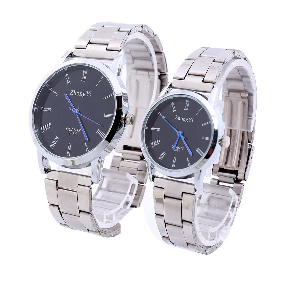Couple Watches Fashion Man Couple Stainless Steel Analog Quartz Wrist Watch 2018 Lovers Watches   Clock Dropshipping