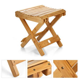 Image 5 - Small Chair Natural Bamboo Folding Chair Folding Stool Mini Chair Portable Chair Collapsible Chaires Folded Seat Small Folding