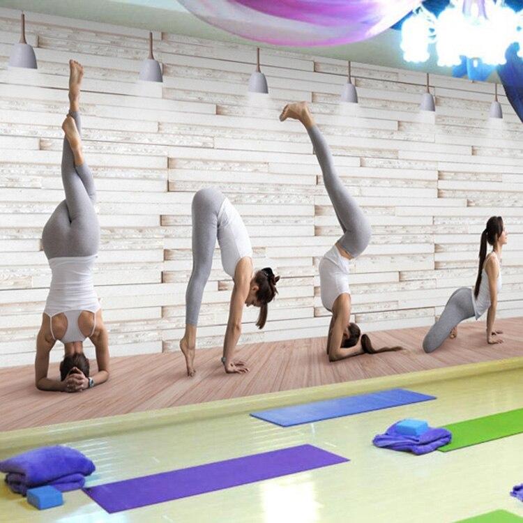 yoga studio 3d dance beauty gym mural playground salon