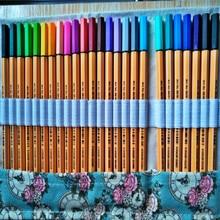 STABILO 88 Fineliner pluma de fibra 0,4mm fino bosquejo bolígrafo de Gel colorido y cortina Set arte aguja de pintura bolígrafos marcador Paperlaria