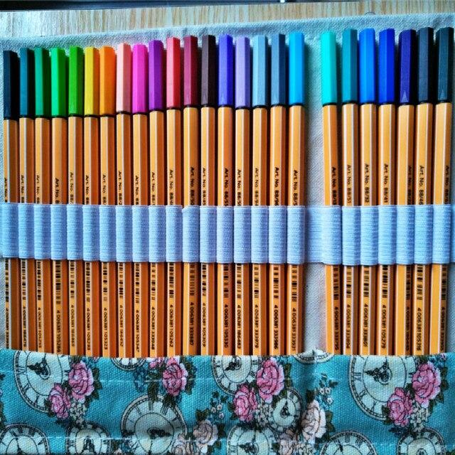 Stabilo 88 ファインライナーペン繊維ペン 0.4 ミリメートル罰金スケッチ色のゲルボールペンとカーテンセットアート絵画針ペンマーカー paperlaria