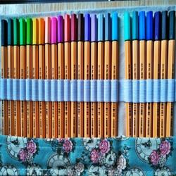 Stabilo 88 fineliner caneta de fibra 0.4mm fino esboçar colorido gel caneta e cortina conjunto arte pintura agulha canetas marcador paperlaria