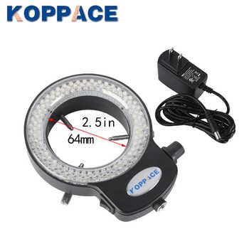 KOPPACE 2.1X-180X Trinocular Stereo Zoom Microscope with WF10X/20 WF20X/10 Wide-field Eyepieces 0.5X and 2.0X Barlow Lens