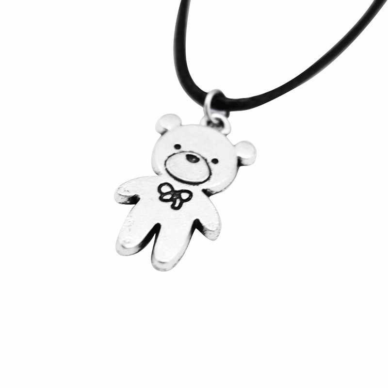 Fashion Elephant Bear Pendant Necklace Women Vintage Silver Chain Wing Deer Animal Pendant Necklace Female Jewelry Gift