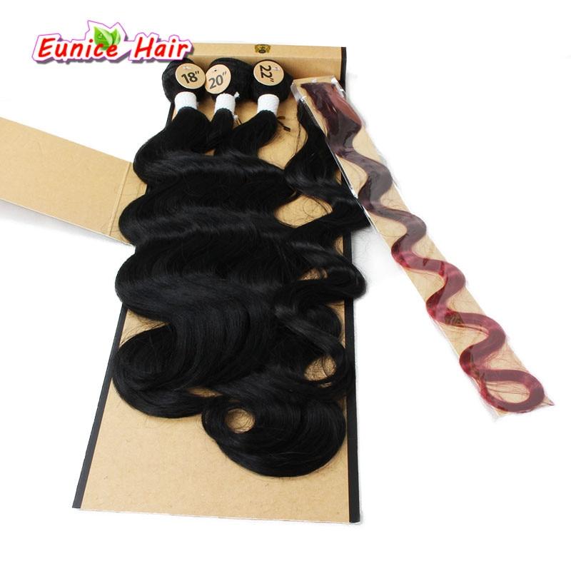 Бразильский естественных утка волна волос Средства ухода за кожей волна прическа Ombre три тона Синтетическое закрытие волос Комбинации для ...