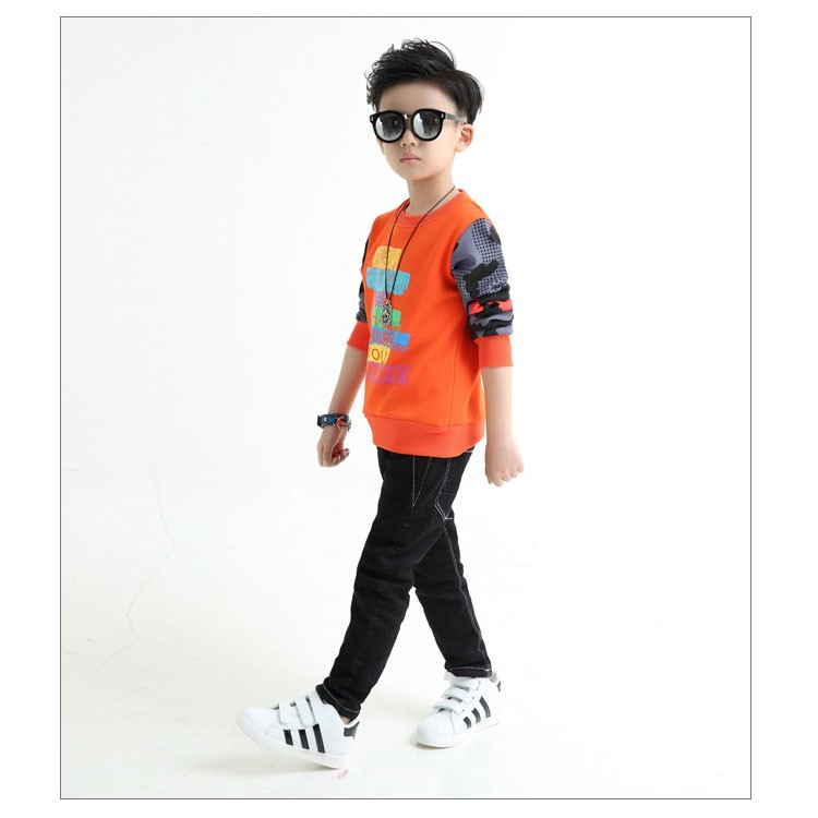 fashion casual new arrival 2017 camouflage patchwork children tops tees boys long sleeve t shirts kids clothes new 2017 spring autumn teenager boys kid t shirt clothes  (4)