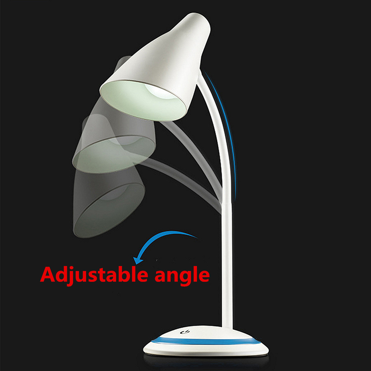 LED Flexible Table Lamp Desk Lamps Light Adjustable USB Rechargeable Touch Sensor for Student Study Reading Eye Protection light