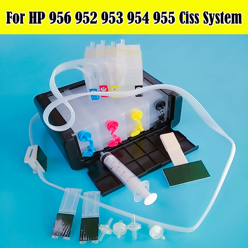 953 954 955 956 952 XL Ciss Continuous Ink Supply System For HP Officejet Pro 8730 8740 8735 8715 8720 8725 Printer Without Chip
