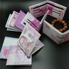 Wallet unisex multi-function coin banknotes foreign currency PU printing creative purse