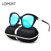 LOPERT Polarized High Quality Vintage Cat Eye Sunglasses Women Unique Oversize Shield Eyewear Cat Eye Lady