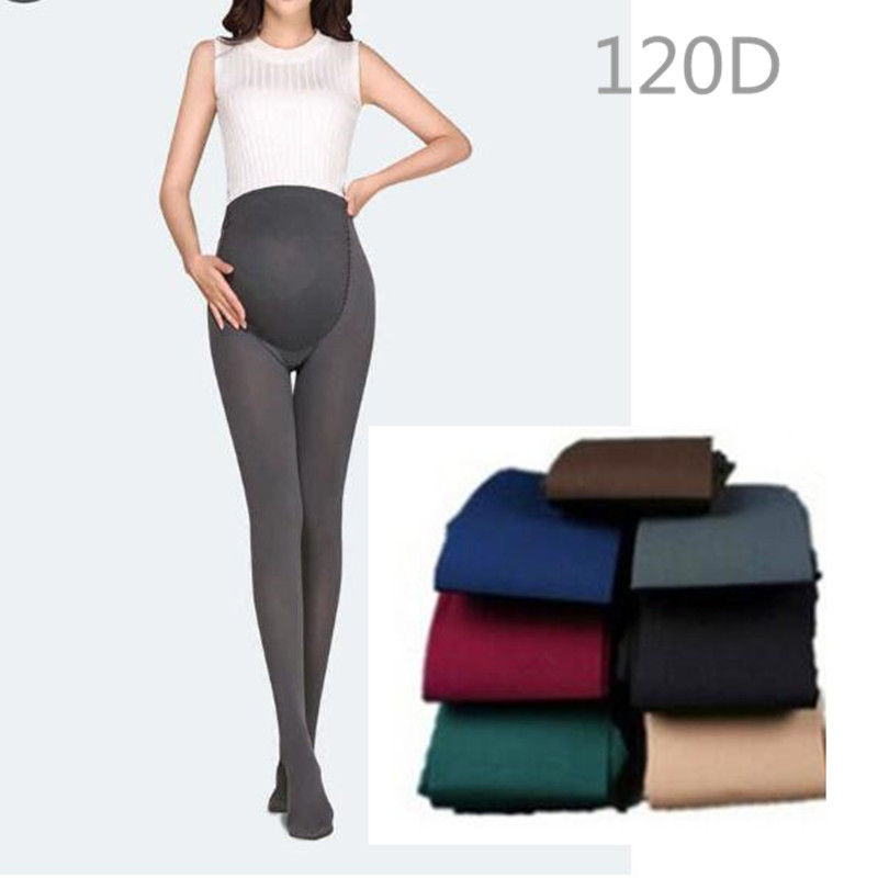 1PCS 120D Velvet Pregnant Women Pantyhose Large Size Leggings Plus Fertilizer Plus Pantyhose Pregnant Women Pants Pregnant Women