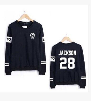 Горячая распродажа нью-kpop GOT7 JB jr. Мужская хлопок пуловер о-образным вырезом толстовка женщины толстовки