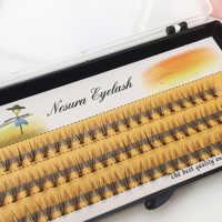 60 pieces 0.07 thickness hair C curl eyelash extension 8 10 12mm strip false eyelashes makeup individual lashes