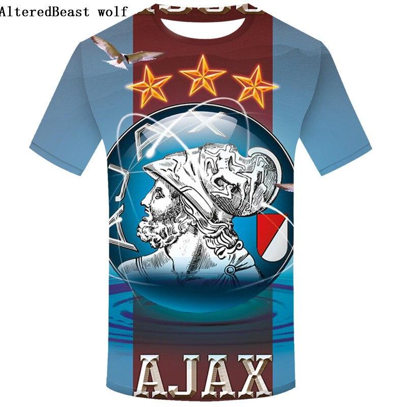 US $6 31 41% OFF|Best Quality 2019 Ajax men's t shirts Top quality Fashion  Summer Mens Casual T Shirts Ajax Cartoon 3D print T shirt-in T-Shirts from