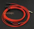 For 1pcs ONLY 1.2m Custom Handmade Cable For Sennheiser IE8 IE80 earphone headset Red Limited