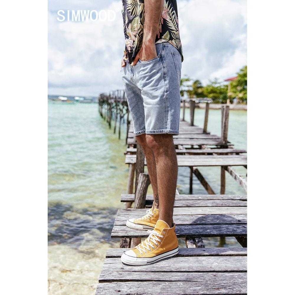 SIMWOOD 2019 Summer Fashion Denim   Shorts   Men Slim Fit Casual Cotton Jeans Trousers Male Plus Size Brand Clothing 180071