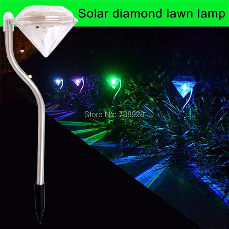 gramado lâmpada sombra diamante villa iluminação caminho