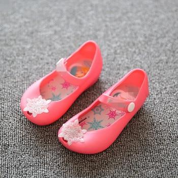 Girls Princess Jelly Shoes Mini sed Cartoon Children Sandals Transparent Snowflake Kids Anna Elsa Shoes 1