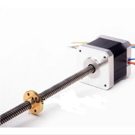 Blurolls Ultimaker 2 Go 3 D printer 180 mm Z-Motor with Trapezoidal Lead Screw Motor with Trapezoidal_Lead_Srew TR 8*8(P2) 3d printer parts reprap ultimaker z motor with trapezoidal lead srew tr 8 8 p2 free shipping
