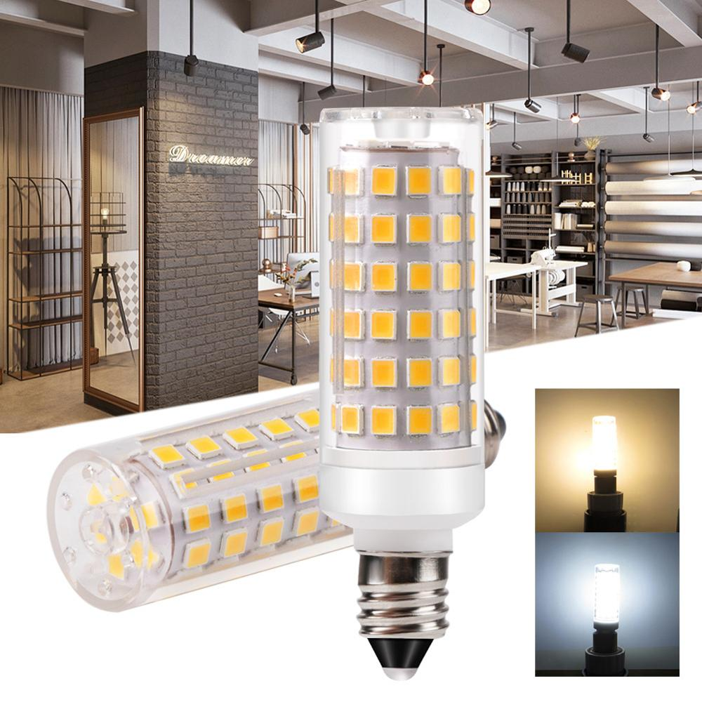 Unique Dimmable 110V 220V Ceramic <font><b>LED</b></font> Light <font><b>Bulb</b></font> G9 E11 E12 E14 <font><b>E17</b></font> BA15D 9W DC 2835 Light <font><b>Bulb</b></font> Replace Halogen For Chandelier image