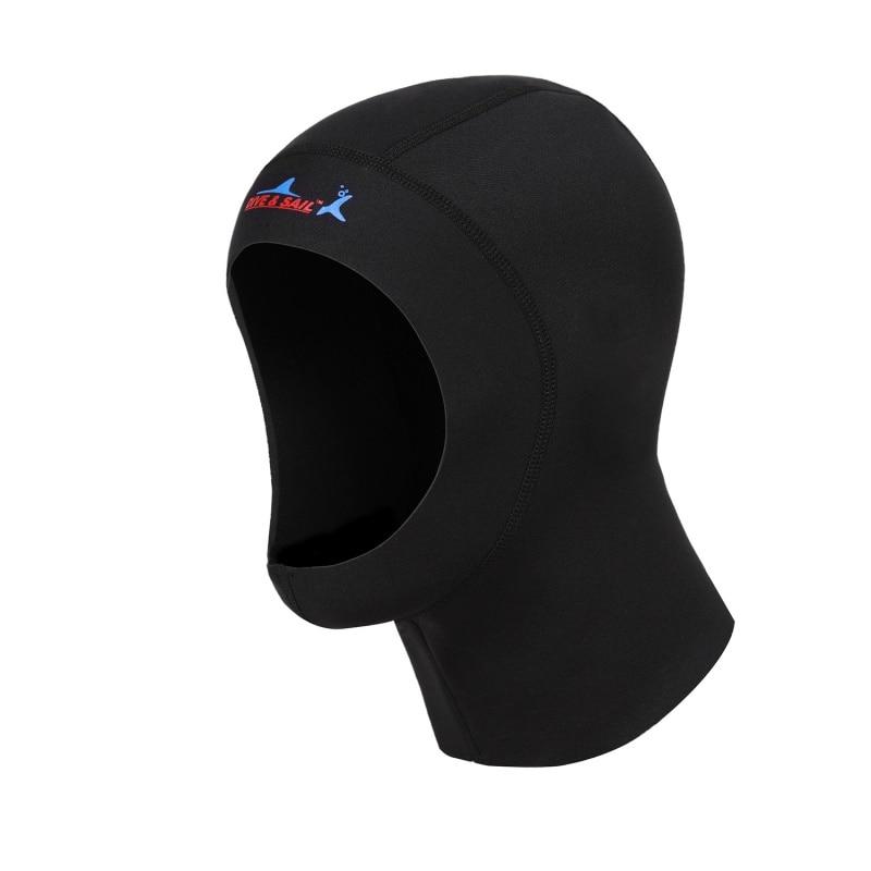 3mm Neoprene Scuba Diving Cap With Shoulder Snorkeling Equipment Hat Hood Neck Cover Swim Warm Wetsuit Protect Hair Ear New