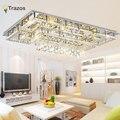Роскошный Современный хрустальный потолочный светильник с стеклянным абажуром Золотой потолочный светильник для гостиной спальни lamparas de ...
