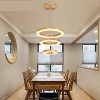 Ring Kroonluchter LED Amerikaanse Dorp Woonkamer Hoofd Eenvoudige Restaurant Massief Houten Cirkel Nieuwe CL MZ133