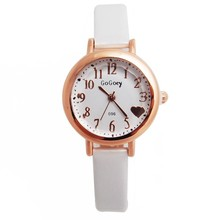 Wholesale Gogoey Brand Leather fashion Quartz Watch women Children Wrist watch Wristwatches 201505101