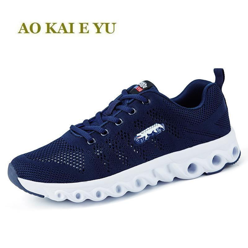 Breathable men running shoes cushioning men sneakers sport shoes 2017 summer mesh walking training shoes for men