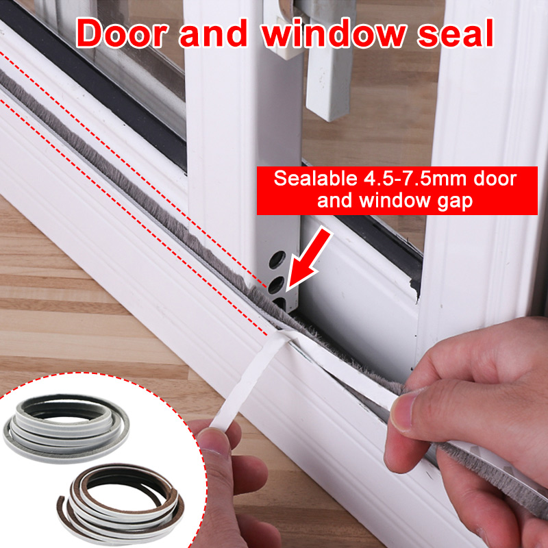 1 Pcs Self Adhesive Seal Strip 5M Door Draught Excluder Brush Windproof Window Protector SKD88