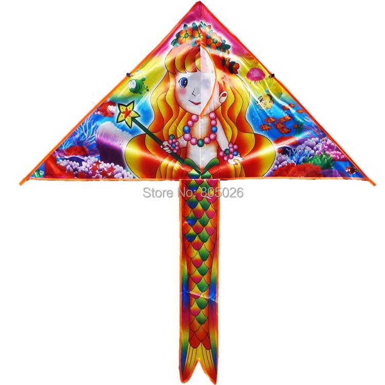 Высококачественный расклешенный кайт 20 шт./лот подарок для детей с ручкой линии хорошо летать вэйфанские бумажные змеи с фабрики