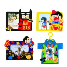 Photo Frame Make Of Felt 4 Designs Felt Material DIY Package Sewing Art Craft Needlework Felt Applique Ornament Kit For Children(China)