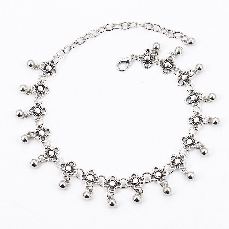 HTB14SFqMpXXXXc2XXXXq6xXFXXXq Sterling Silver Anklets - Stylish Women Silver Floral Anklet Foot Chain Jewelry With Charms