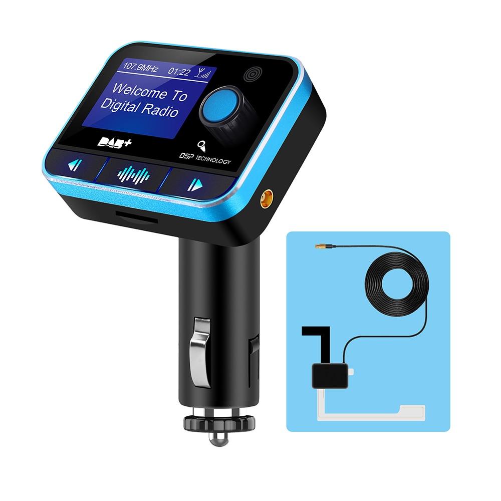 USB Bluetooth V4.2 A2DP FM transmetteur lecteur MP3 U disque LCD affichage voiture Kit chargeur adaptateur avec fonction DAB suppression du bruit