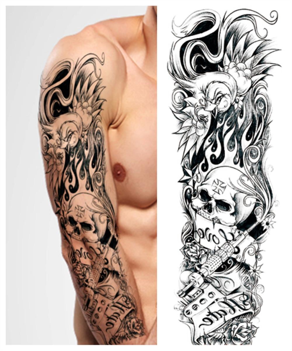 Como Escolher Tatuagem Homem ツ)_/¯etiqueta do tatuagem temporária crânio rose flores