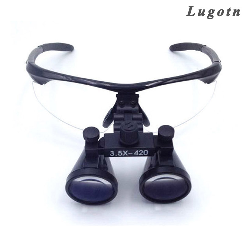 3.5X magnification surgical medical equipment teeth dental magnifier antifogging optical glasses clinical dentist surgery loupe clinical