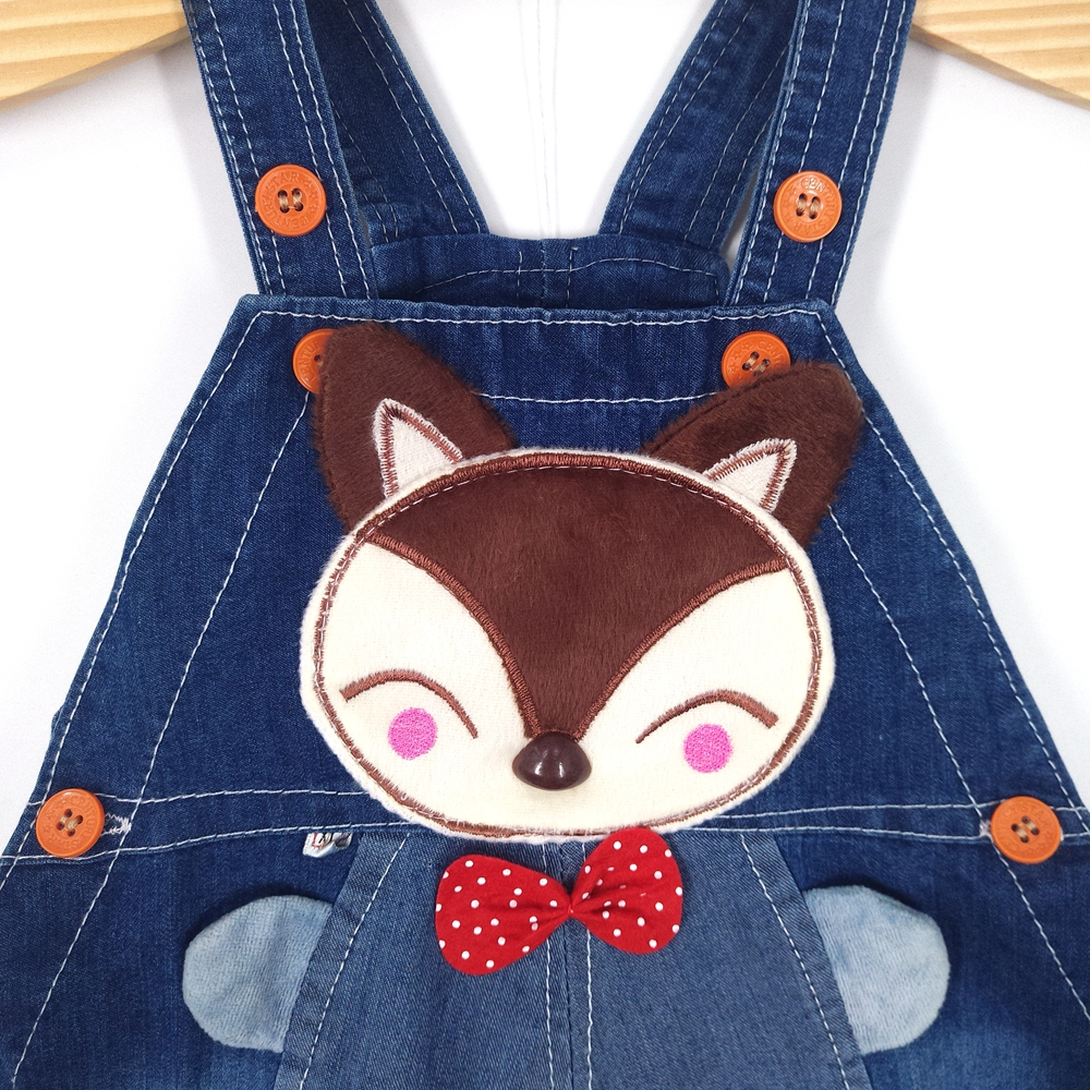 a75fbcba09a4 6M 2T Baby Boys Girls Denim Short Overalls For Summer Infant Toddler Kids  Jeans Rompers Cute Fox Jumpsuit For Child Clothes-in Overalls from Mother    Kids ...