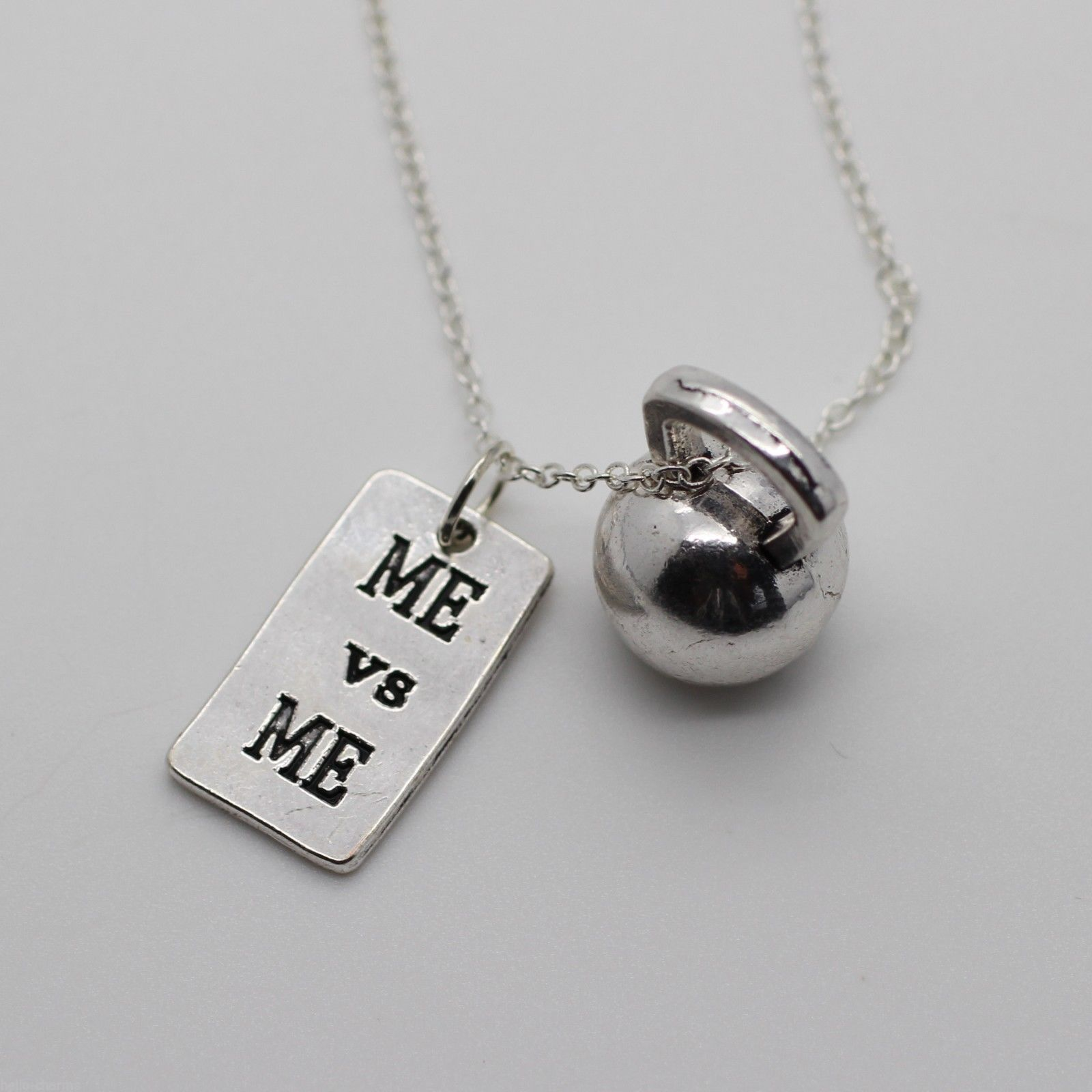 ME & ME & KETTLEBELL NECKLACE Crossfit Jewelry Fitness