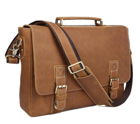 Genuine Leather  Laptop Messenger Bag Large Vintage Style Cross body Briefcase Shoulder BagGenuine Leather  Laptop Messenger Bag Large Vintage Style Cross body Briefcase Shoulder Bag
